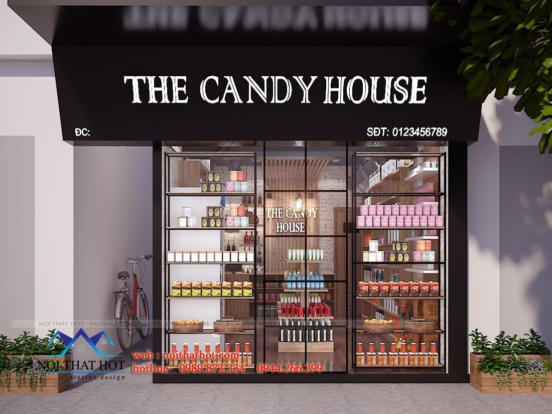 thiết kế cửa hàng bánh kẹo