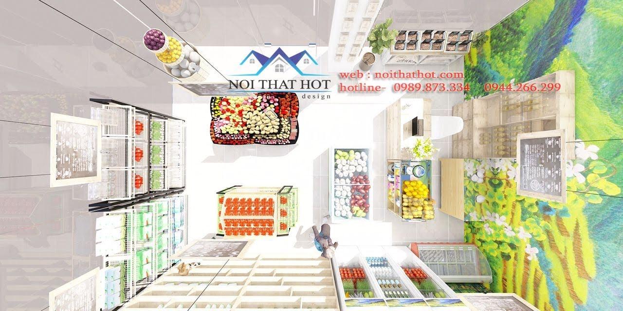 thiết kế cửa hàng hoa quả sạch 1
