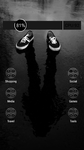 android Icy black shoes theme Screenshot 2