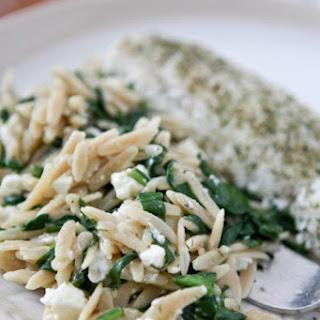 Spinach Feta Orzo.