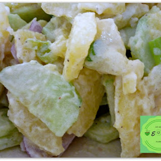 Potatoes Salad With Homemade Vegan Mayonnaise