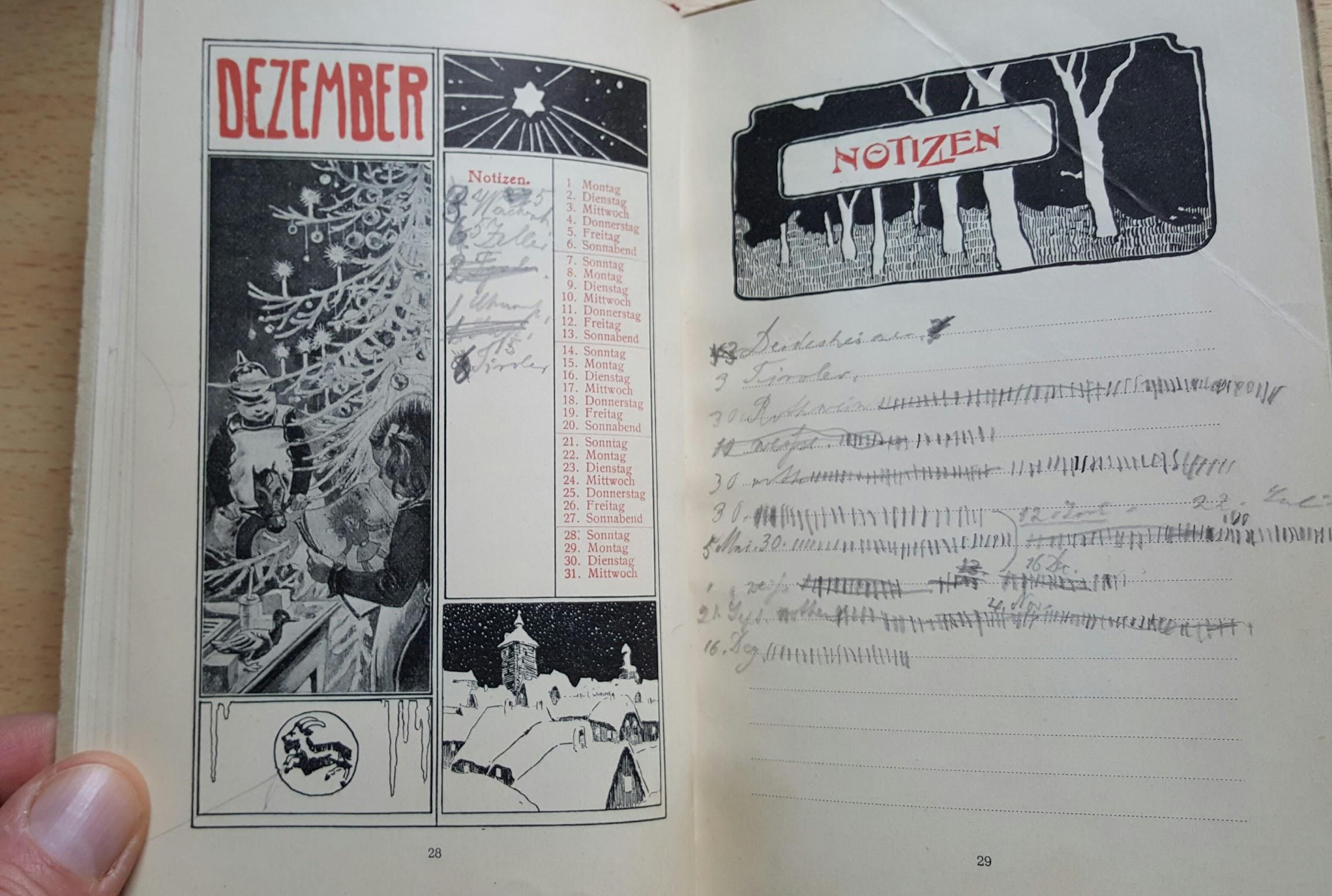 Liebig Haushaltungskalender 1902