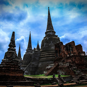 Ayutthaya Thailand 1 by Premtawi Thinkfoto - Buildings & Architecture Public & Historical ( building, nature, architecture, travel, landscape )