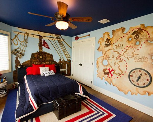 Paint a Design On the Wall to Create a Mock Headboard