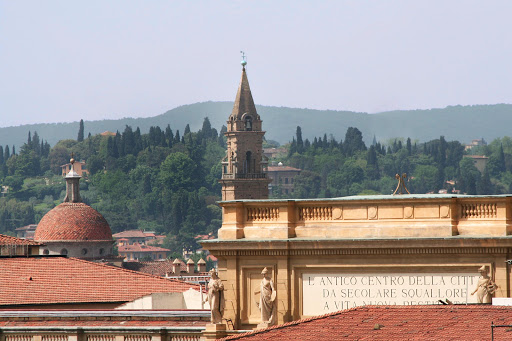 florence-cityscape4.jpg - A closeup of centuries-old buildings in Florence, Italy.