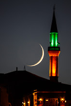 Photo: Mosque Moonset  A crescent is one of the oldest symbols known to mankind, having been found on seals dating back as far as 2300 BC. The crescent and star was adopted by the Turks in the 12th century and went on to become symbolic of the Ottoman Empire. This in turn helped to popularize the crescent and star among the Muslim populations of many countries across Asia and Africa.As a result of this the crescent is now often used to symbolize the Islamic faith.  This photo was taken as the moon set behind the mosque inUçhisar, Turkey. It wouldn't have been possible without a very useful mobile app calledSun Surveyor, written by +Adam Ratana. Because the moon was tracking so closely behind the sun it wasn't even visible until shortly after sunset, at which point the moon was already low on the horizon. Using the app I was able to predict the moon's path quite accurately so I was already roughly in position for when the moon slowly appeared. I still needed to run around a fair bit though, it was surprising how quickly the moon was moving and thus continually ruining the shot!  #MoonMondays by +Stephen Kriegand +SyLvAiN RoUx #MoonriseMonday