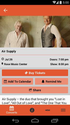 rose music center screenshot 2