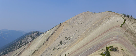Photo: The ridge is the eastern boundary of the Scapegoat Wilderness. Everything to the left of the ridge is wilderness.