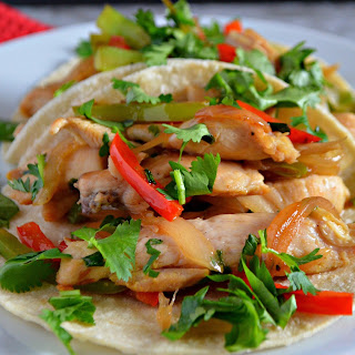 Healthy Chicken Fajitas #NewComfortFood