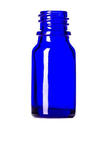 Glasflaska 10 ml - blå