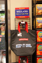 Photo: Also, you can find reusable insulated bags next to the freezers.