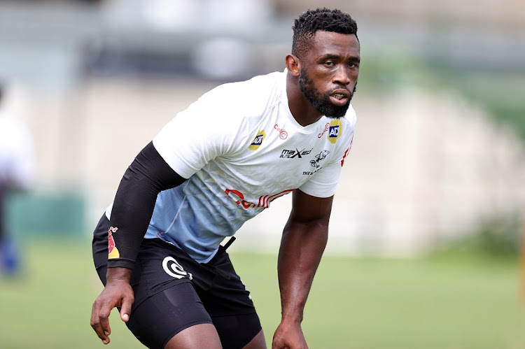 Siya Kolisi of the Cell C Sharks during the Cell C Sharks training session at Jonsson Kings Park on March 24, 2021 in Durban, South Africa.