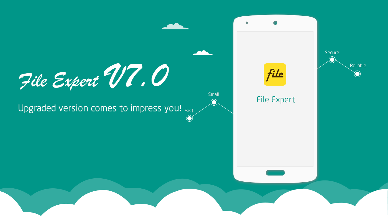 File Expert with Clouds - screenshot
