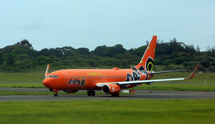 Mango 's air plane taking off from King Shaka International airport.