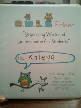 Photo: Kaleya's class notebook
