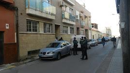 La calle de Balerma en la que se ha producido el crimen.