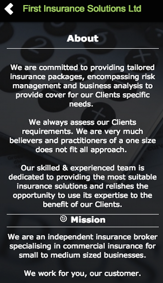 First Insurance Solutions Ltd- screenshot