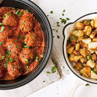 Spanish Meatballs with Crispy Potatoes