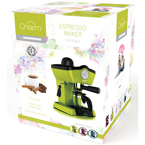 Espressor manual Heinner Charm, 800W, 250ml, 3.5 bar, Verde