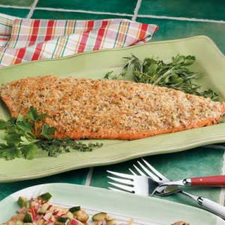Baked Salmon with Herbs.