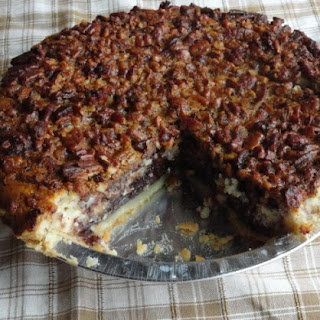 Chocolate Pecan Cheesecake Pie