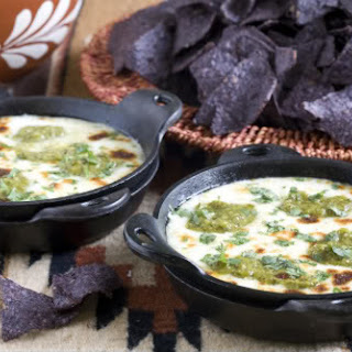 Queso Fundido with Roasted Poblano Vinaigrette