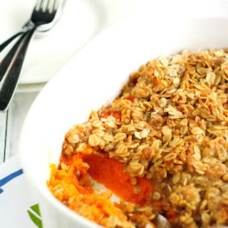 Nut Free Vegan Sweet Potato Casserole.