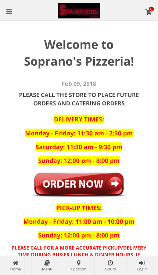 Soprano's Pizzeria NJ- screenshot