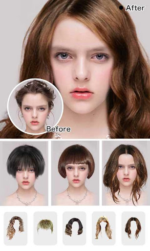 Hairstyle Makeover App - Beauty Hairstyle Try On 2.0 screenshots 1