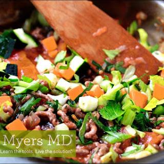 Grass-Fed Beef and Veggie Breakfast Scramble