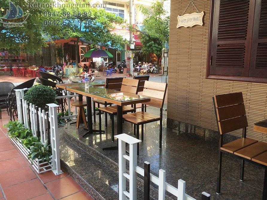 thiết kế quán cafe tương phản, thi công quán cafe đẹp mắt