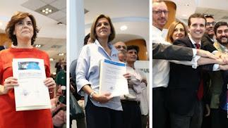 Los tres candidatos con más posibilidades a hacerse con la presidencia del PP.