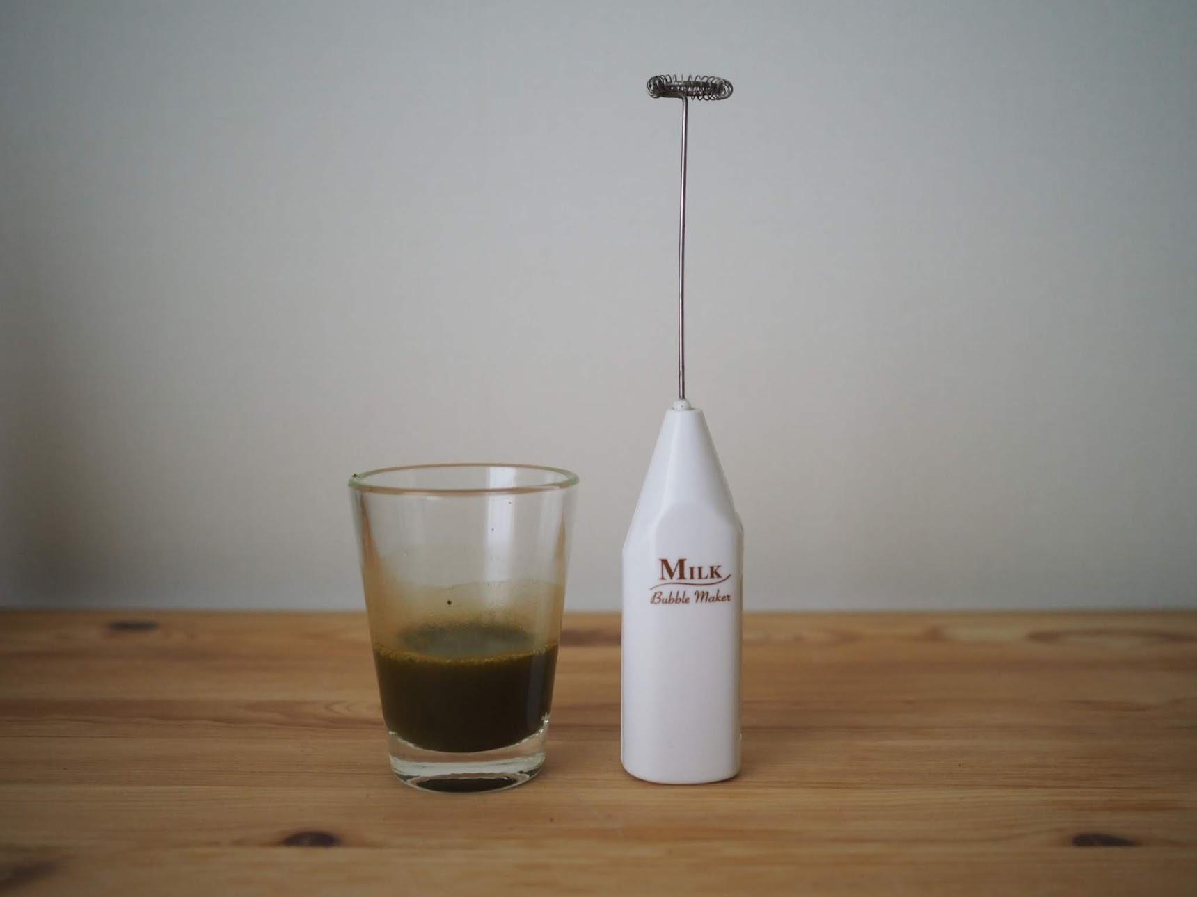 ミルクフォーマーとほうじ茶