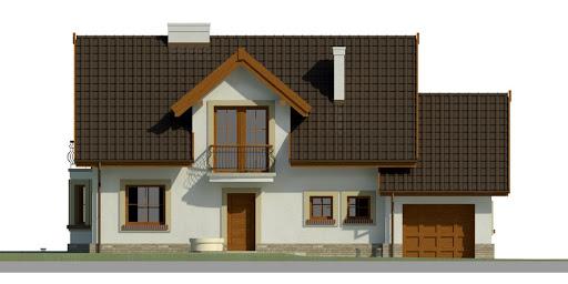 Dom przy Modrzewiowej 11 - Elewacja przednia