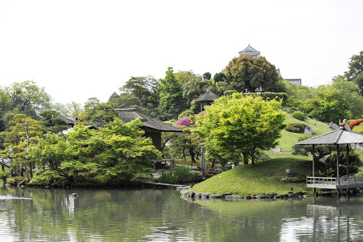 Stroll Korakuen, one of the three great gardens of Japan, in Okayama during a Ponant cruise.