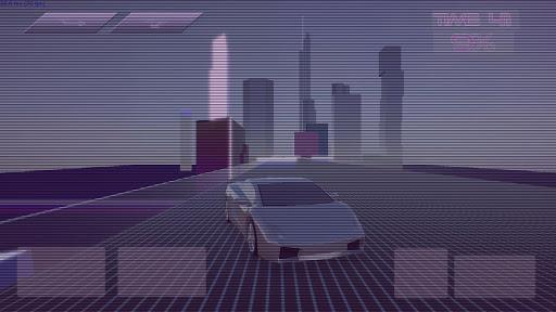 Synthwave Driver 3D - Retrowave Racing Game apkmind screenshots 1