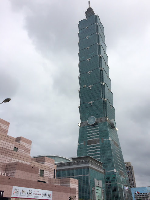Going all the way up Taipei 101
