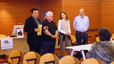 """Photo: Enzo GALBATO , Presidente del """"Fotoclub Lucinico"""" assieme ai Lettori Tullio FRAGIACOMO, Laura MARCOLINI e Paolo CARTAGINE"""