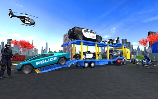 US Police Cyber Truck Car Transporter screenshot 1