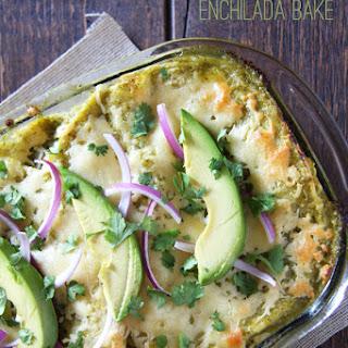 Salsa Verde Chicken Enchilada Bake + How to Make Shredded Chicken