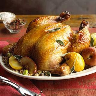 Apple-Glazed Roast Chicken.