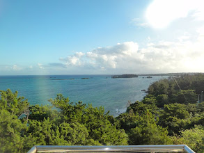 Photo: View from my room at OIST Seaside House.