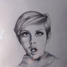 Twiggy by Kc Marsh - Drawing All Drawing