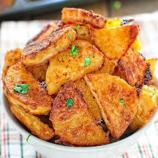 Parmesan Crusted Potatoes.