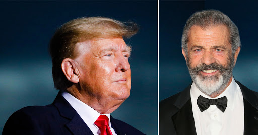 Mel Gibson salutes Donald Trump at UFC 264 after previously failing to vote for him
