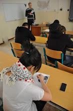 Photo: Školní kolo olympiády v anglickém jazyce (jazyková učebna J3, pátek 27. leden 2012).