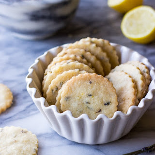 Lemon Lavender Shortbread Cookies.