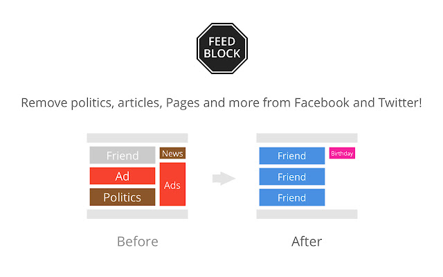 FeedBlock – Fix social media annoyances