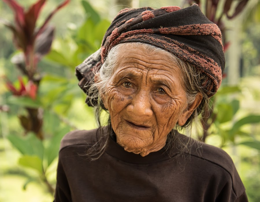 Bali Grandma by Kelly Gordon - People Portraits of Women ( wrinkles, bali, indonesia, woman, grandma, aged, character )
