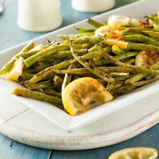Tender Garlic Lemon Green Beans